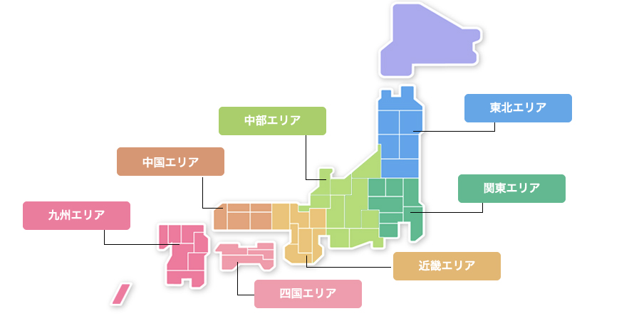加盟店エリア地図